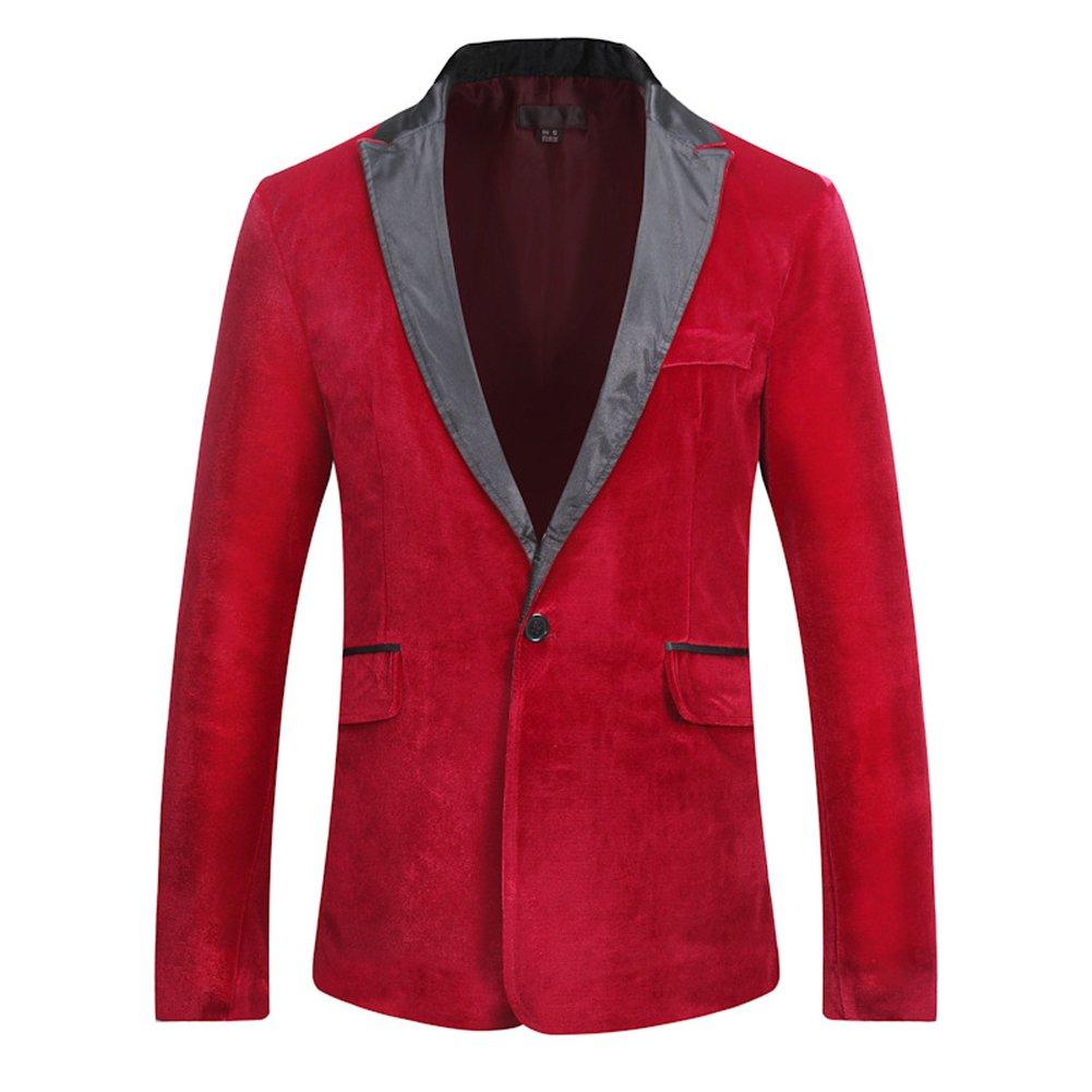 Moollyfox Mens Dinner Tuxedo Jackets Slim Fit Casual Single-Breasted Suits Jacket Blazer Jacket