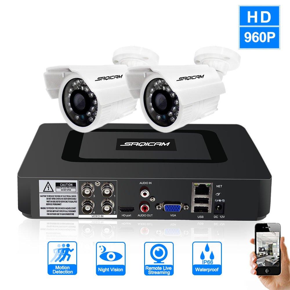 【即納&大特価】 SAQICAM 4Ch 1200Tvl Cctvカメラセキュリティシステム960P Ahd 1080N 1080N Dvr 2作品 1200Tvl Ir耐候性Bulletカメラホーム監視Dvrキット 4Ch、ナイトビジョン、動き検出 B07CVDQBCR, 住設と家電のベアーハンズ:33c751b6 --- martinemoeykens-com.access.secure-ssl-servers.info
