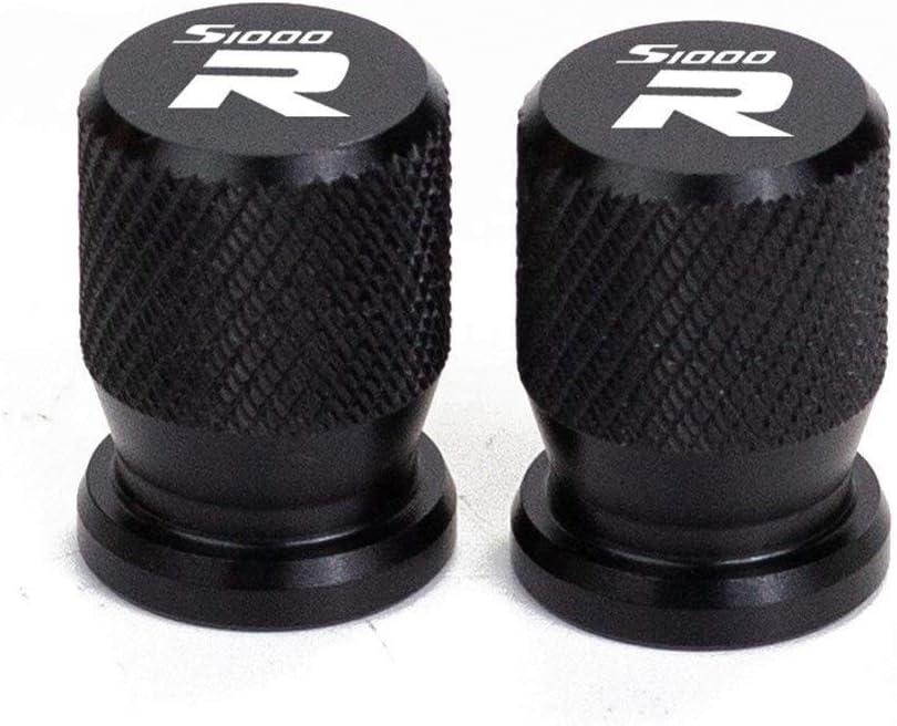 Color : Black S1000R Accessoires moto Roue pneu Bouchons culbuteurs en aluminium herm/étiquement clos S1000R S1000RR S1000XR