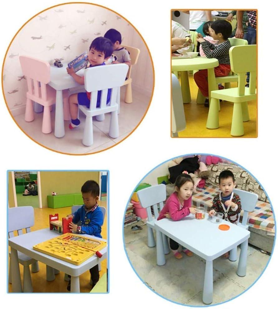 ChairsKids小型腰掛け厚手のプラスチック製かわいい子供用ステューハイバック滑り止め付き足、幼稚園用ポータブル軽量デスク(色:緑)