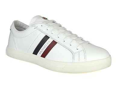 Moncler La Monaco White Leather Low-Top Trainers  Amazon.co.uk ... b87ec75e365