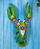 The Lakeside Collection Tropical Lobster Metal Sculptures,Green