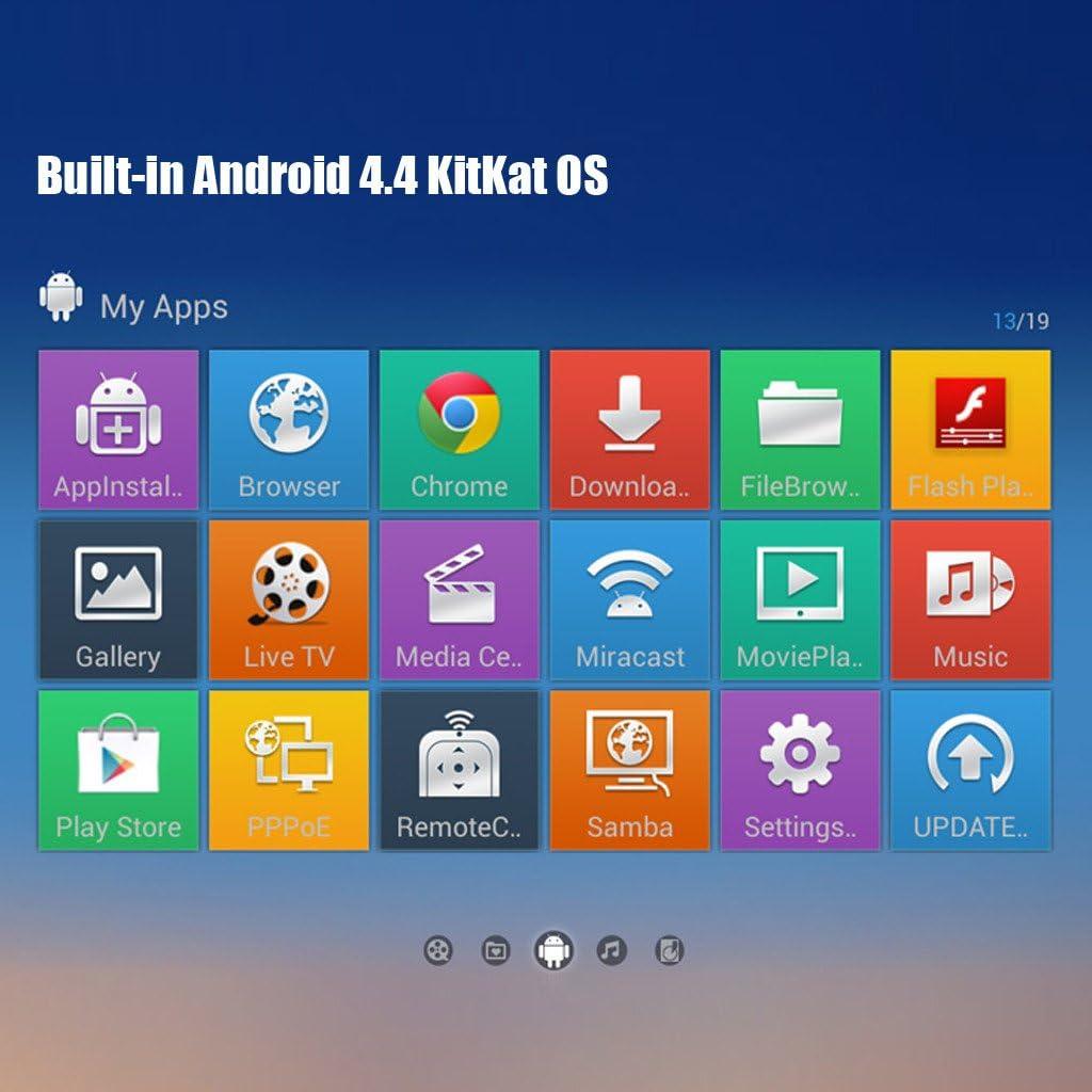 RKM MK05 - Smart TV Box Reproductor Multimedia HDMI (Amlogic S805 Servidores, Android 4.4, 4K*2K, 1G, 8GB, Bluetooth, XBMC, Miracast, DLNA, WiFi): Amazon.es: Electrónica