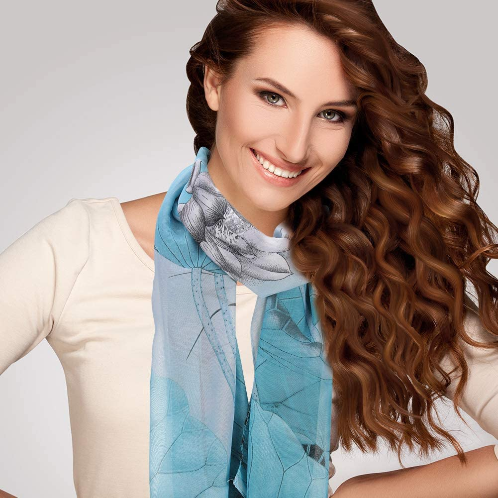 leggere Confezione da 4 sciarpe in chiffon Bolonbi alla moda sciarpe avvolgenti per donne e ragazze