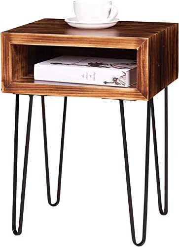 NXN-HOME Solid Pine Wood Nightstand Side Table