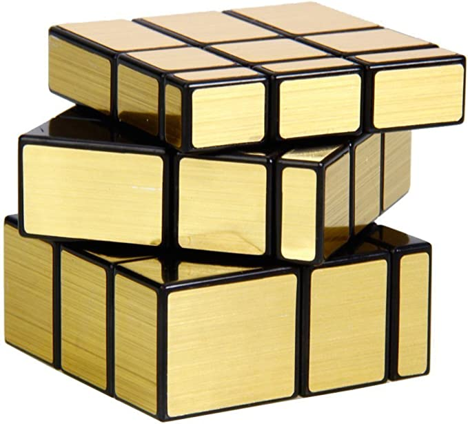 Shengshou Mirror Speed Cube, 2 Colors for Choice (Golden): Amazon ...