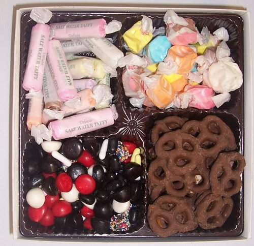 Scott's Cakes Large 4-Pack Chocolate Pretzels, Salt Water Taffy, Nougat Taffy, & Licorice Mix