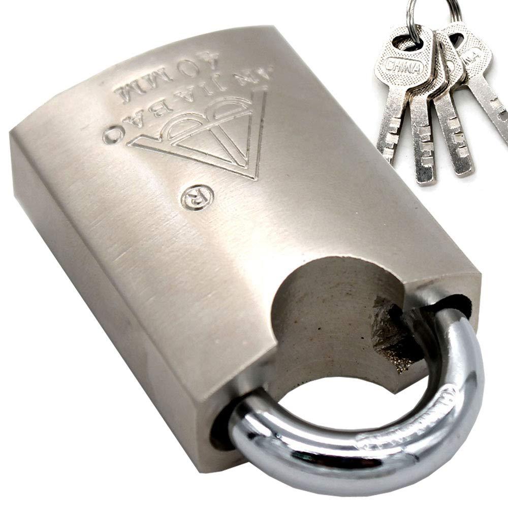 High Security Padlock, Armored Iron Body - Heavy Duty Padlock, 3 Keys Included mioni
