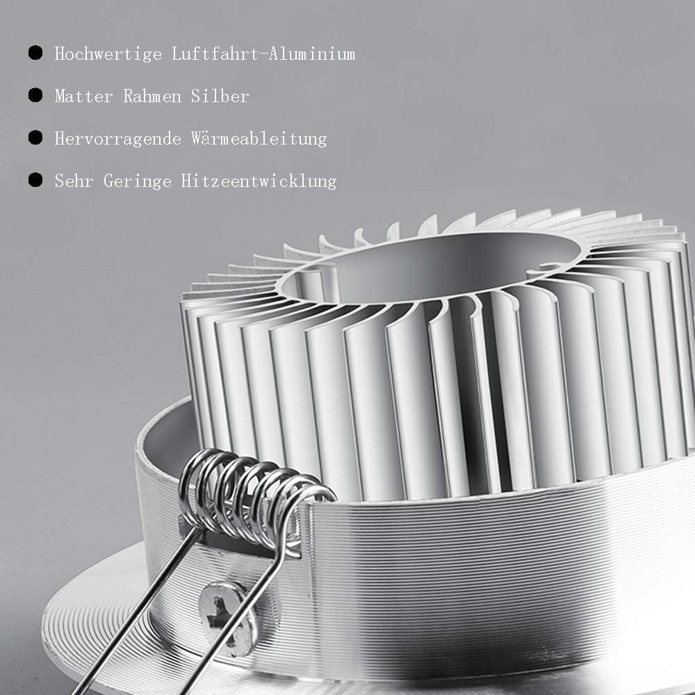 Hengda 20x LED Einbaustrahler Einbau-Spots Schwenkbar 3W Leuchtmittel Decken-Leuchte Einbaulampe Warmweiß Deckeneinbauleuchte Spots 230V 20x 3w Warmweiß