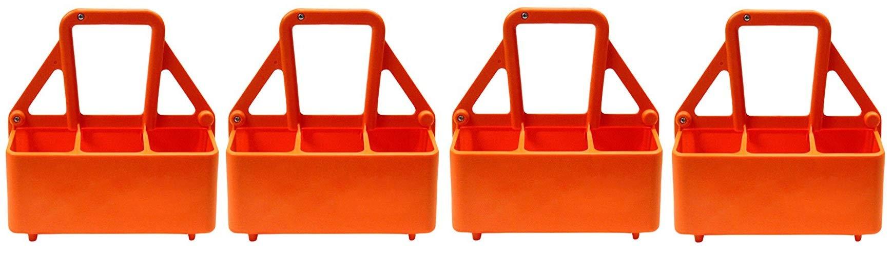 Martin Sports The Water Bottle Carrier, Plastic, Holds 6-26 OZ Bottles. (4-(Pack))