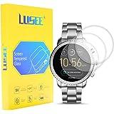 Lusee 3 Piezas Universal Protector de Pantalla para Smart Watch/Smartwatch diámetro 33mm Cristal Vidrio Templado [Dureza…