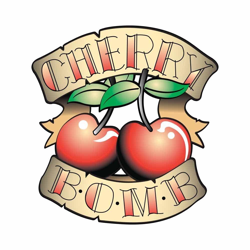 Cherry Bomb Tattoo Art Design - Full Color Vinyl Decal Sticker for Instant Pot Instapot Pressure Cooker