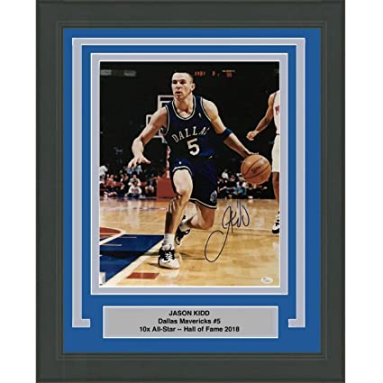 e0b699de8baf Framed Autographed Signed Jason Kidd Dallas Mavericks 16x20 ...