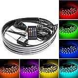 neon car lights exterior - SOCAL-LED 4pcs 8 Color RGB 5050 Strips Neon LED Underglow Kit Under Car Underbody Light + Remote + Sound Activate Effect