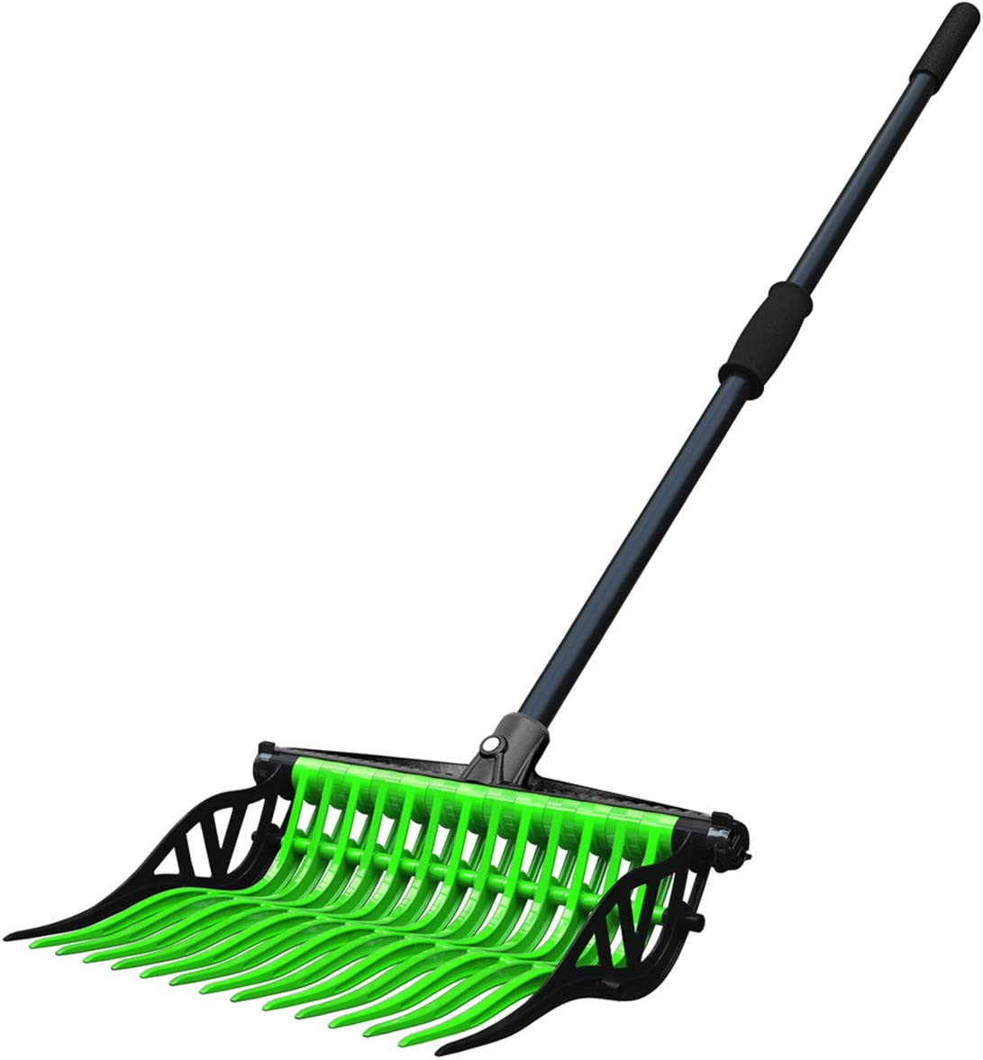 Noble Outfitters Wave Fork Pitchfork Manure Rake Heavy Duty Tines