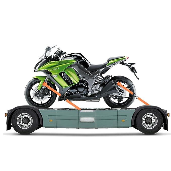 "Black 2 Motorcycle Tie Down Straps Soft Premium 1/"" x 18/"" Harley ATV"