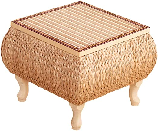 Muebles y Accesorios de jardín Mesa pequeña Mesa de ratán Cuadrada ...