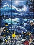 Ceramic Tile Mural - Ocean Treasure- by Christian Riese Lassen - Kitchen backsplash / Bathroom shower