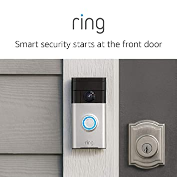 Ring Wi Fi Enabled Video Doorbell In Satin Nickel, Works With Alexa by Ring