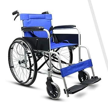 Shisky Silla de Ruedas de aleación de Aluminio Manual sólido Azul neumático Plegable lámpara Inflable: Amazon.es: Hogar