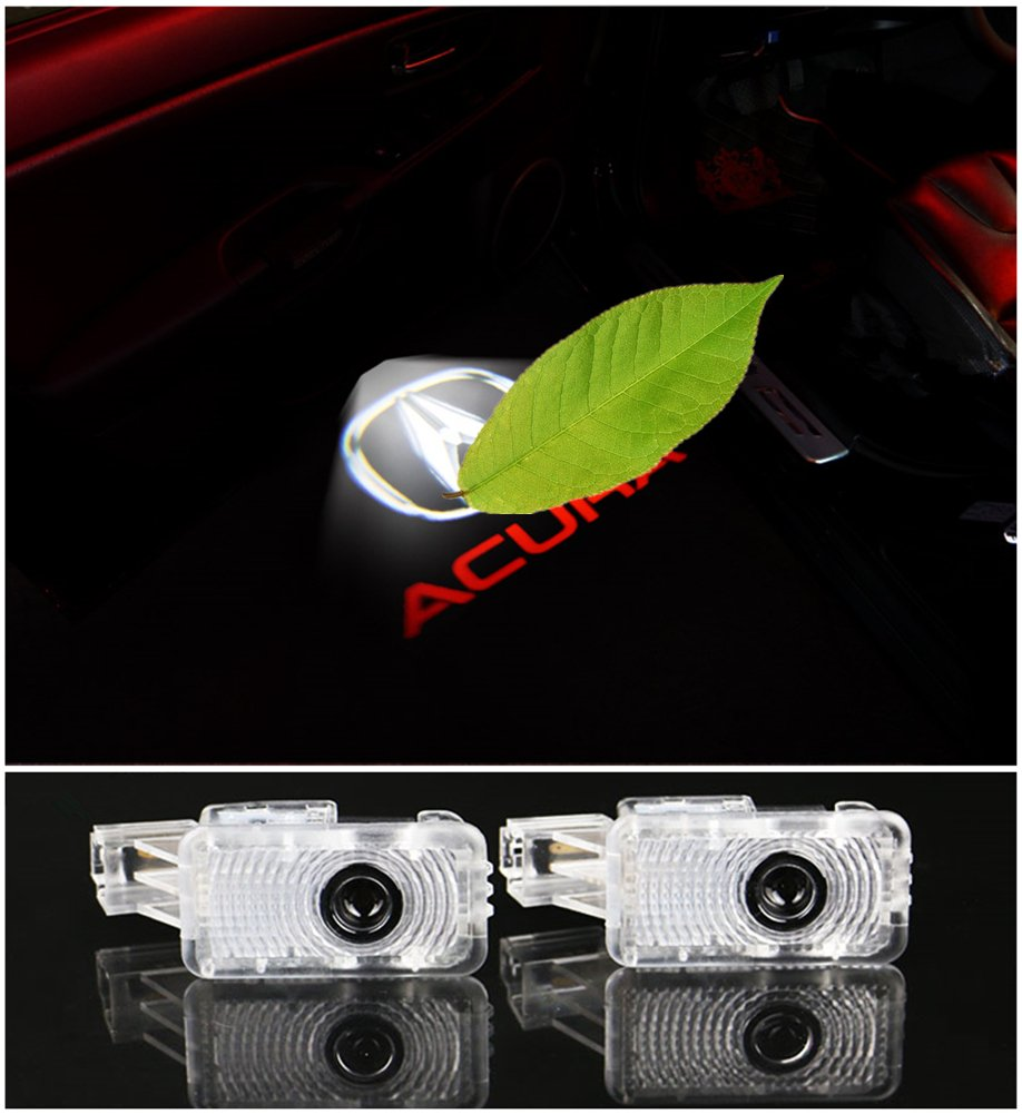 Acura White Logo DELEIKA 2ps LED Car Door Welcome Logo Ghost Shadow Projector Lights Courtesy Lights For Acura MDX ZDX TL TLX RLX RCX Honda Civic Hybird Hopmc Insight Wireless 3D Laser Warning Lamp