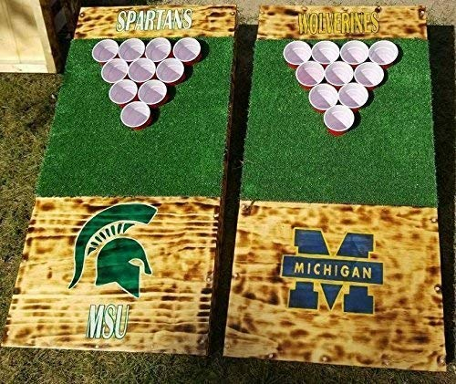ULTIMATE TAILGATING BUNDLE! Golf/beer pong set, Cornhole Set & Yardzee! Custom Built Hand painted ANY DESIGN!! Heavy Duty! FREE Shipping!! Order by 5/17 for Memorial -