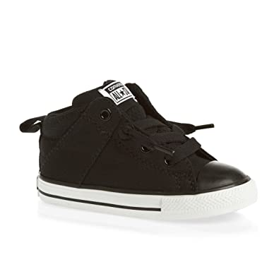 Converse Kids Baby Boy's Chuck Taylor All Star Axel Mid Leather (Infant/ Toddler)