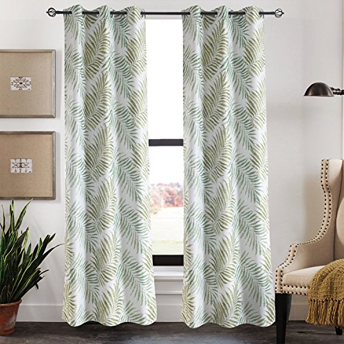 Green Leaf Tree Curtains Drapes – KoTing 1 Panel Insulated Room Darkening Curtains Grommet Drapes 50W by 84L Inch Review