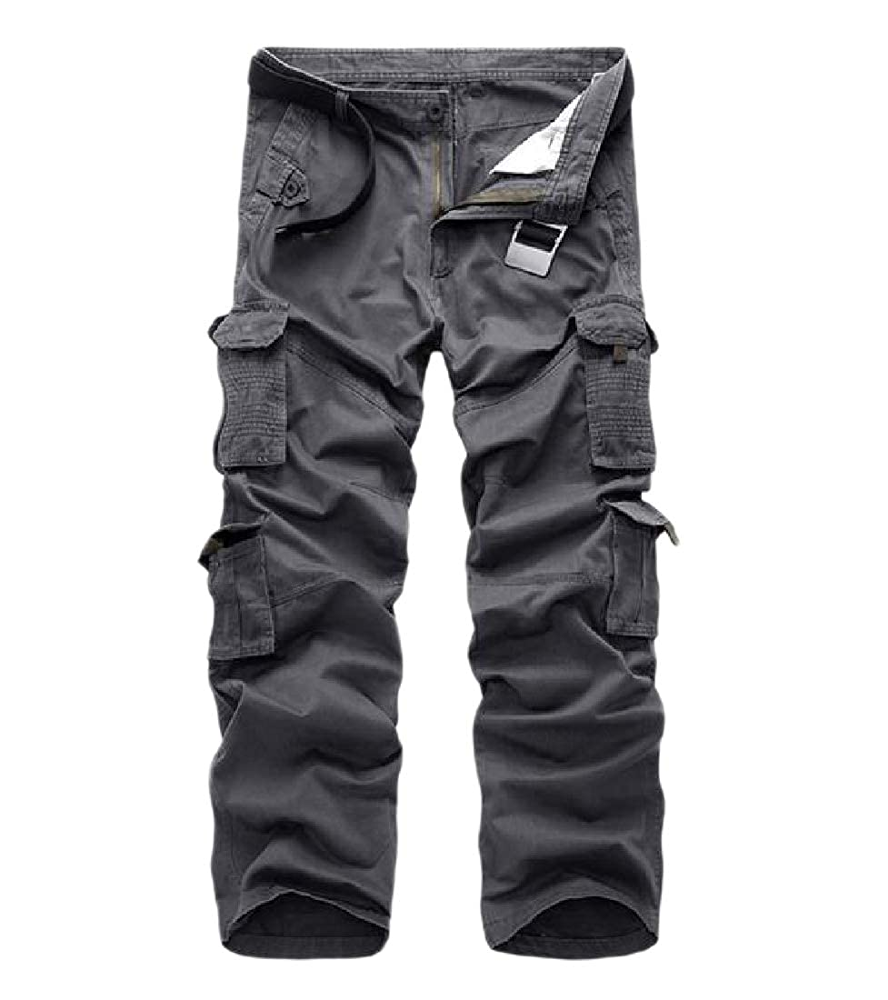 Coolred-Men Oversized Fall Multi-Pockets Multicam Relaxed Cargo Work Pants