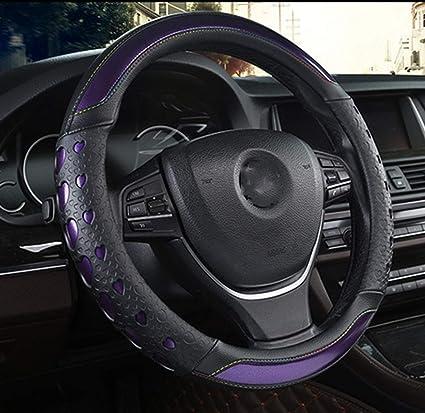 Amazon.com: SCJ - Funda de piel para volante de coche ...
