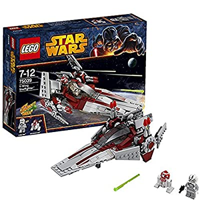 LEGO Star Wars Revenge of the Sith V-Wing Starfighter w/ 2 Minifigures   75039: Toys & Games
