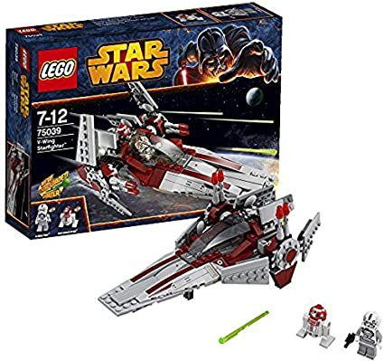 Amazon Com Lego Star Wars Revenge Of The Sith V Wing Starfighter W 2 Minifigures 75039 Toys Games