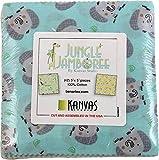 Kanvas Studio Jungle Jamboree 5X5 Pack 42 5-inch Squares Charm Pack Benartex