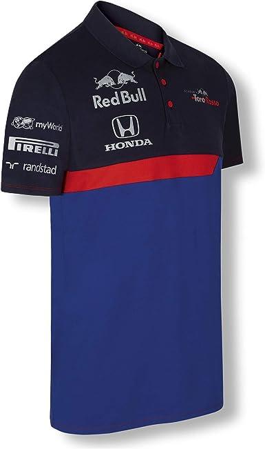 Red Bull Toro Rosso Official Teamline Camisa Polo, Azul Hombre X-Small Camiseta Manga Corta, STR F1 2019 Original Ropa & Accesorios: Amazon.es: Ropa y accesorios