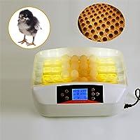 Qazwsx 32PCS Egg Incubadora, Temperatura Digital Hatchery Machine Hatcher para Eclosionar Patos Pollo Gansos Aves De Corral Codornices Loros Palomas