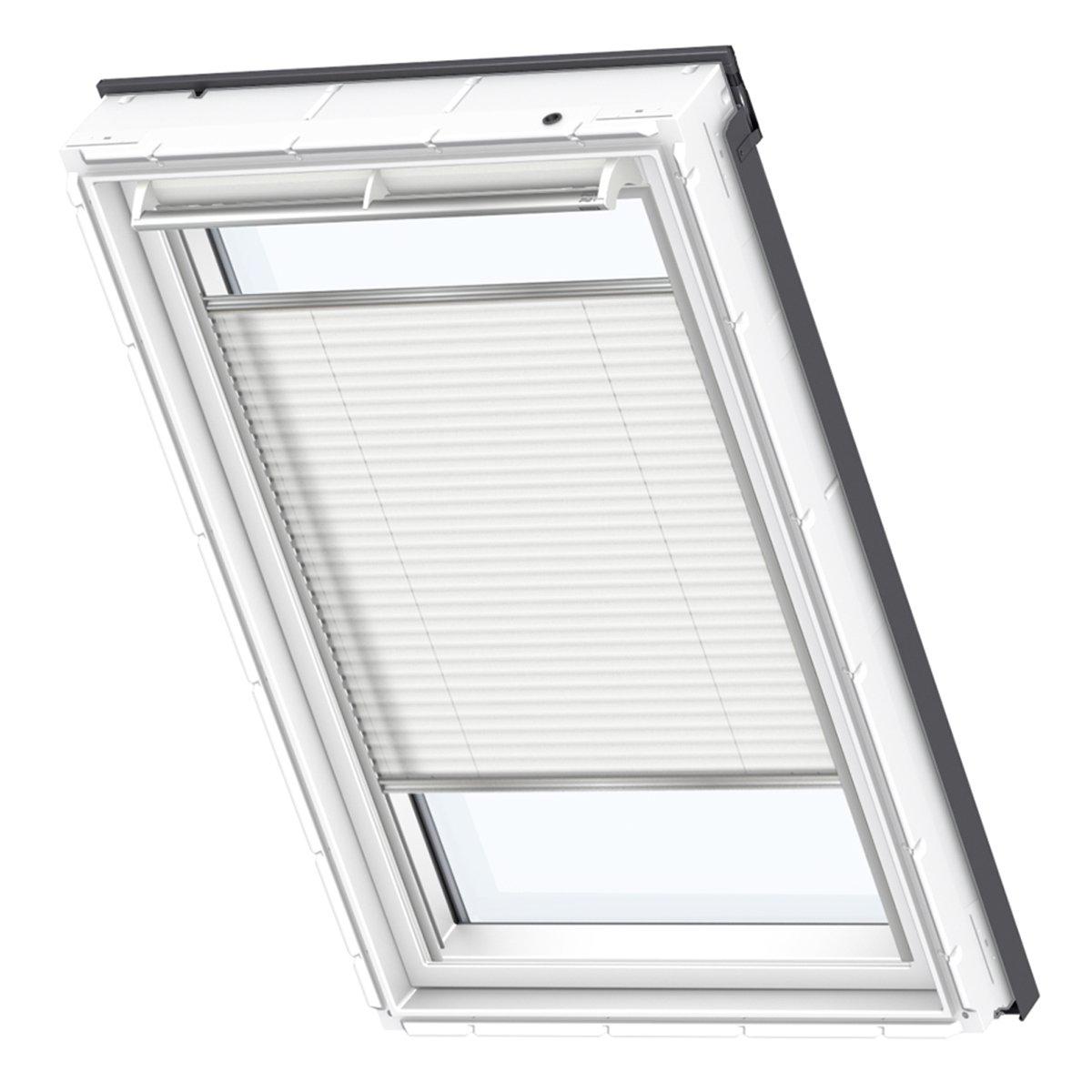 VELUX Original Plissee Dachfenster, U08, Uni Weiß