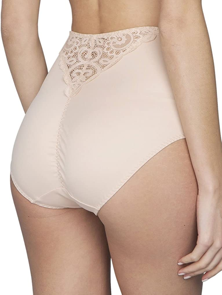 Maison Lejaby 13856-247 Womens Gaby Pink with Lace Panty Shaper Sculpting Brief Knickers 13856-247