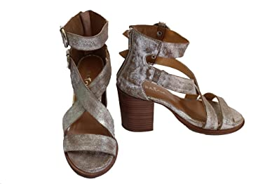 8ce61192db6 Amazon.com  Diba True Imports Hey You Sandals - Pewter  Shoes