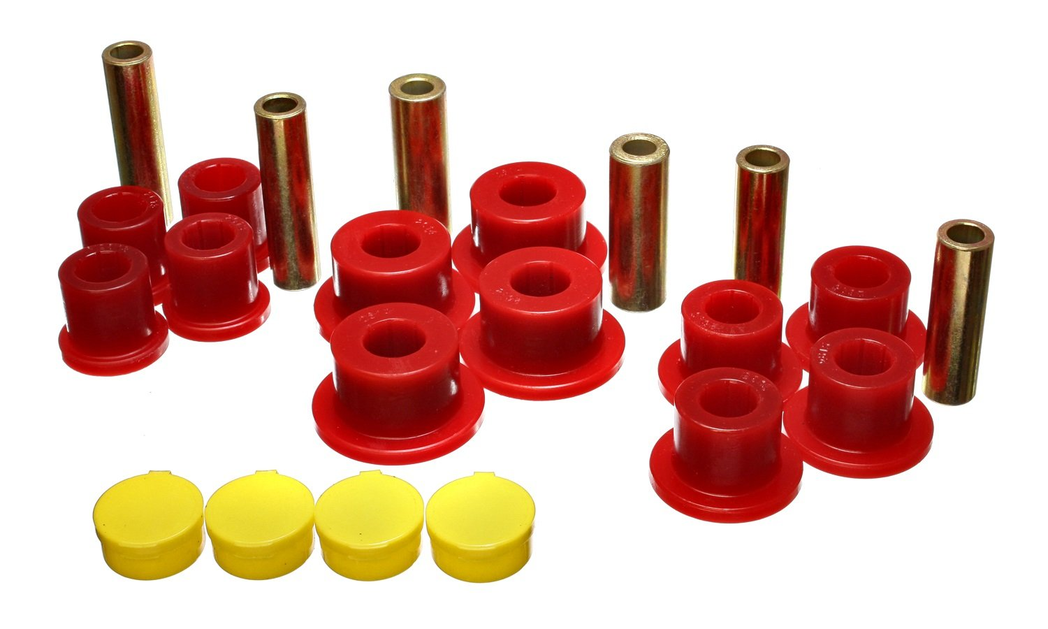 Energy Suspension 5.2115R Rear Leaf Spring Bushing Set for R1500 2WD