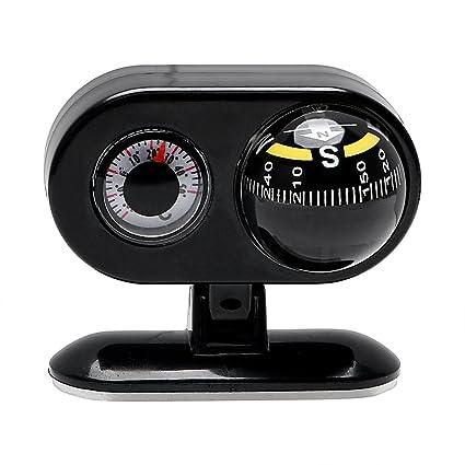 Holdream Termómetro digital con brújula de navegación para coche, pantalla LCD