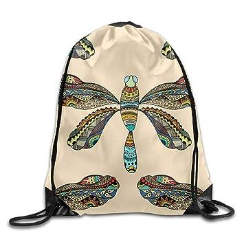 ewtretr Bolsos De Gimnasio, Dragonfly Drawstring Backpack ...