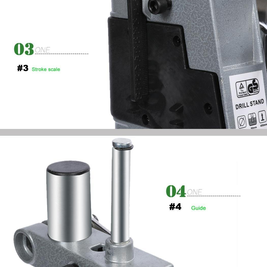 Multifunction Adjustable Aluminum Rotary Tool Drill Press Support Stand with Wrench Workstation by Utheing (Image #7)