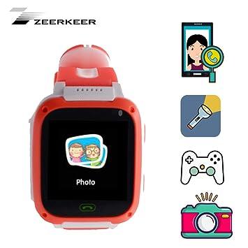Montre connectée pour Enfants zeerkeer Intelligente Horloge Multifonction numérique Smart Watch Anti-Perso avec Rotation
