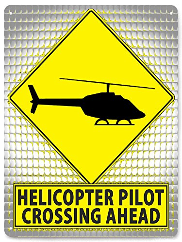 HELICOPTER Metal street sign RC model MANCAVE funny RETRO boys wall decor art 131