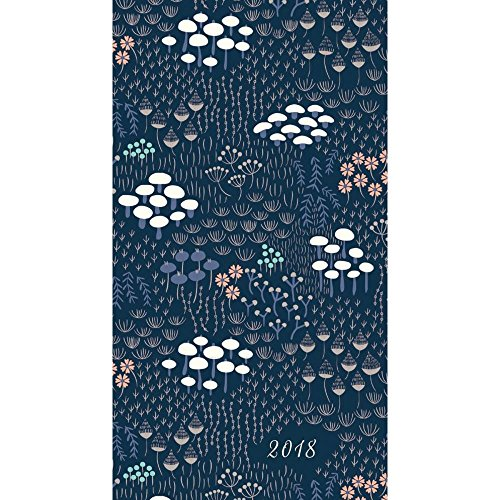 High Note 2018 Silver Floral 18-Month Weekly Pocket Planner: Beautiful, Durable, Soft-cover, Foil Embellished, Checkbook Sized Planner Featuring ... Designer Art By Elizabeth Olwen (CHK0300)