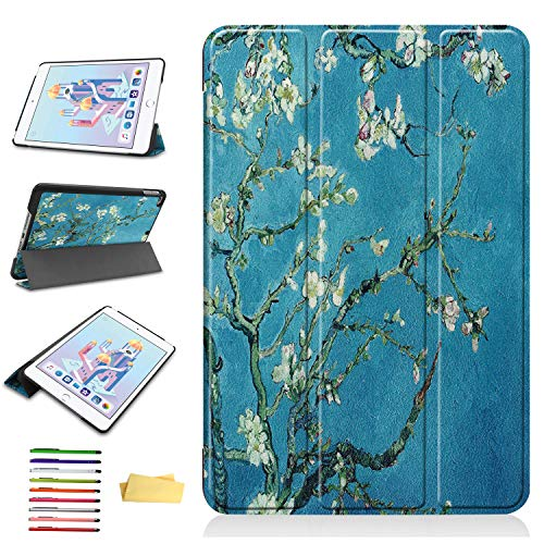 iPad Mini 4 /iPad Mini 5 2019 (5th Gen) 7.9 inch Case, UUcovers Van Gogh Ultra Thin Lightweigh Smart PU Leather Shell with Stand Pencil [Auto Sleep/Wake] Folio Magnetic Cover, -