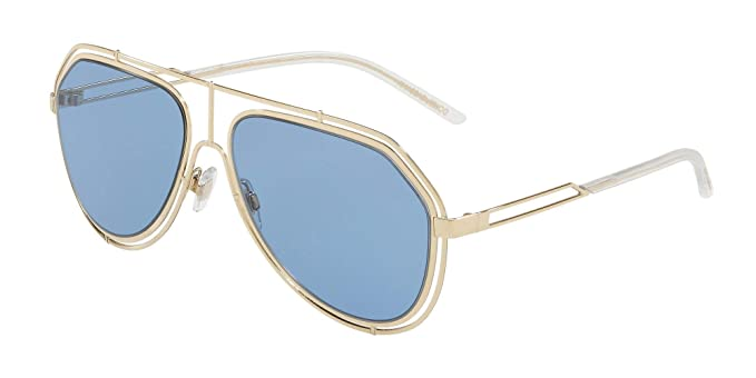 194cd1d3d26 Amazon.com  Dolce   Gabbana Men s 0DG2176 Pale Gold Light Blue One ...