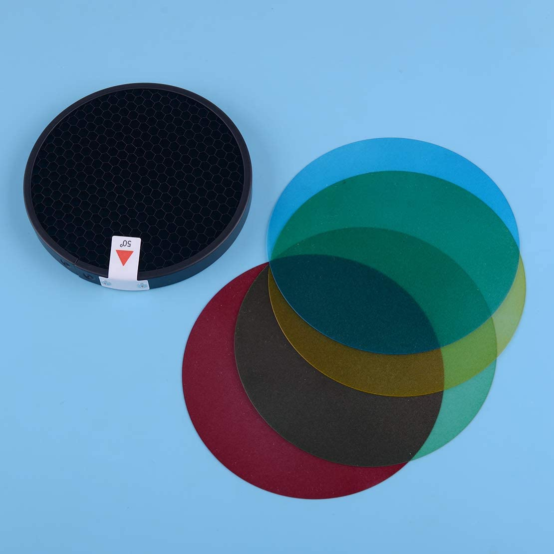 LETAOSK Standard Reflector Grid Cover w//Soft Diffuser Color Filter Gels Fit for Godox Witstro AD200 AD-360 AD-360II
