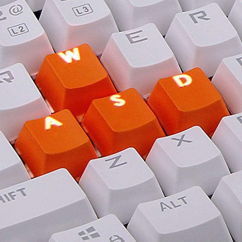 LINGLONGAN Orange 9 Keycaps for Cherry MX Mechanical Keyboard with Key Puller