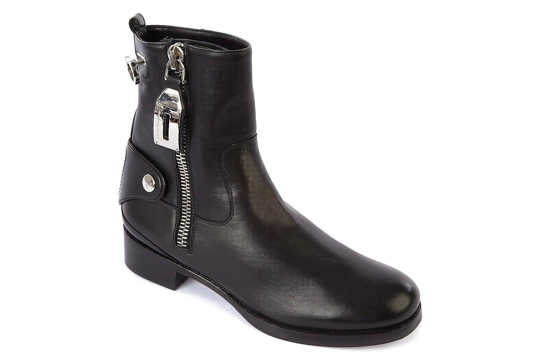 8934d3a443a Salvatore Ferragamo Botines Botas en Cuir Mujer Rebel Negro: Amazon.es:  Zapatos y complementos